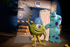 Meeting Mike and Sulley at Disney's Dine with the PIXAR Stars