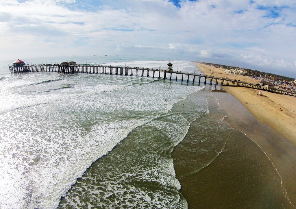 HB Pier Drone View